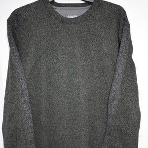 Van Heusen Flex Mens Large Green L/S Fleece Shirt